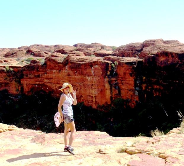 Australia hiking through Kings Canyon