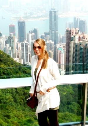Hong Kong view with me at the Peak