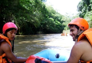 Thailand jungle rafting