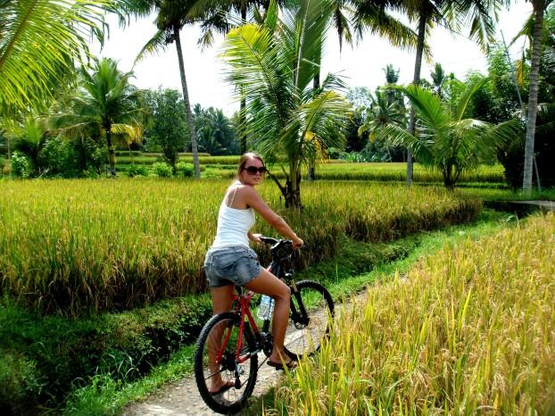 Bali Ubud ricefields mountainbiking