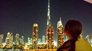 Dubai DAMAC Maison Canal views evening view