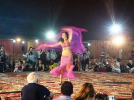 Dubai desert belly dancing
