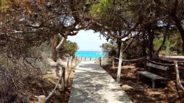 Formentera beach view