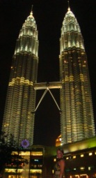 Me in front of Petronas twin towers KL