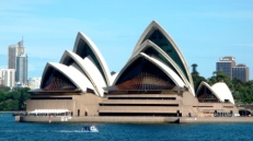 Sydney Opera House from the other side of the bridge