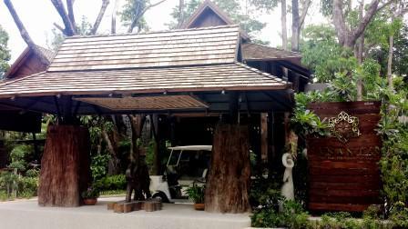 Thailand Ananta Thai Pool villas resort entrance