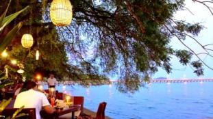 Thailand Nikita's beach restaurant Rawai at night