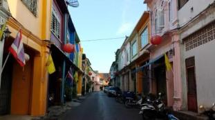 Thailand streets of Phuket old town