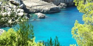 Ibiza coastline Cala Salada
