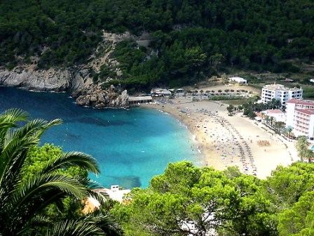 View from the villa on Cala Sant Vicent