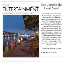Les Jardins du Pont Neuf article