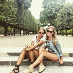 Paris friends at the Jardin des Tuileries