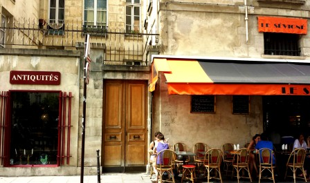 Paris shops and cafe's of Le Marais