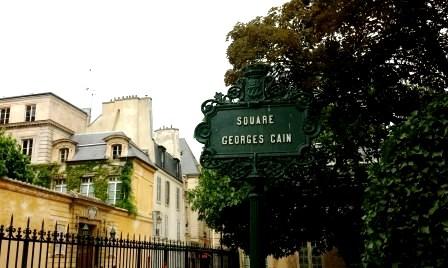 Paris streets of Le Marais