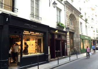 Paris streets of Le Marais