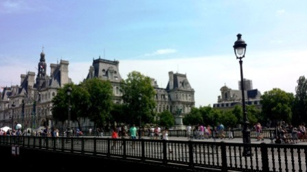 Parisian bridges views
