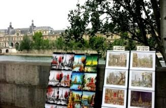 Parisian stalls along the Seine