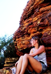 Australia Kings Canyon hike catching my breath