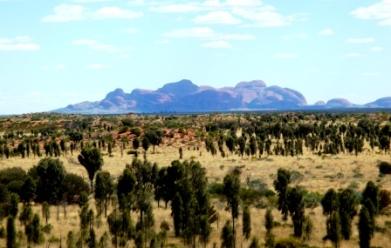 Australia Mount Olga from afar