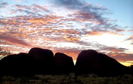 Australia the Olga's sunrise