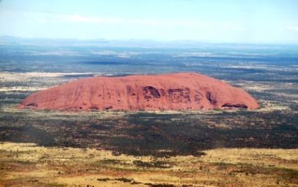 Australia Uluru from the plane