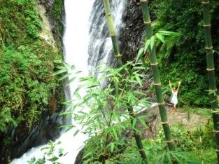 Bali feeling small at the Twin falls