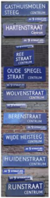 Amsterdam 9 streets name signs