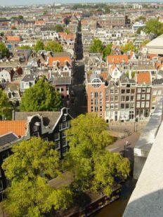 Amsterdam Westertower view Jordaan