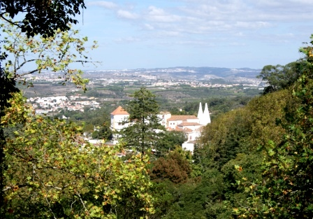 Views of Sintra Palace from up the hill