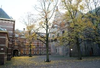 Teh Hague parliament Binnenhof in autumn