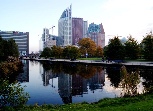 The Hague city centre in autumn