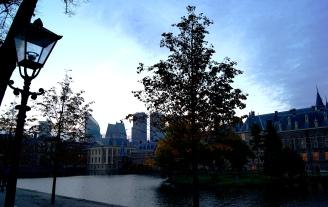 The Hague Hofvijver at autumn