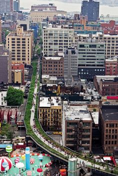 NYC the Highline overview