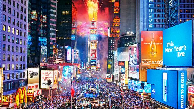 NYC Times Square at New Year's Eve