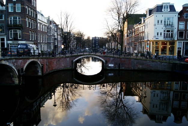 Amsterdam canals at day