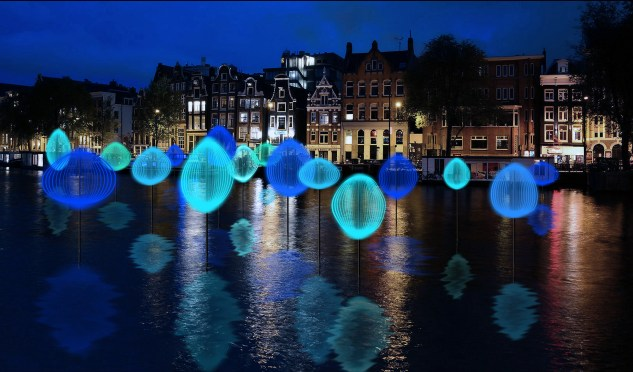 Amsterdam light festival Holon Light
