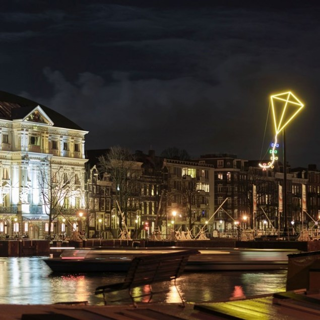 Amsterdam light festival light kite