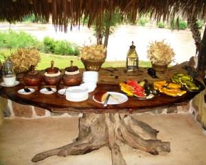 Kenya Galdessa camp breakfast