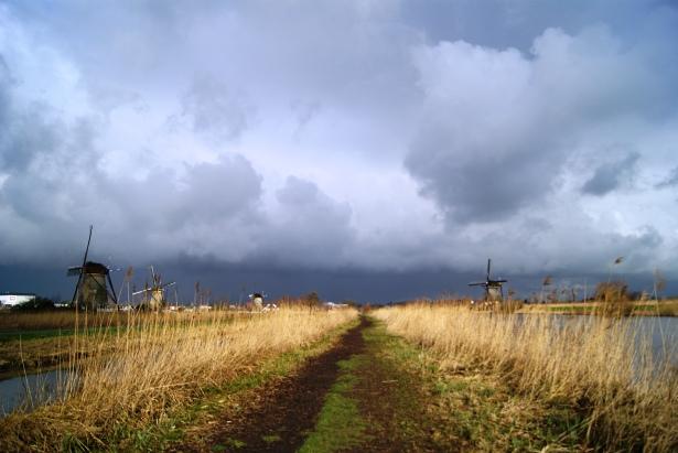 Kinderdijk dikes and windmills