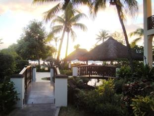 Mauritius Hilton hotel grounds