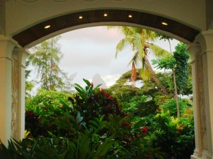 Mauritius Hilton frontside tropical mountain views