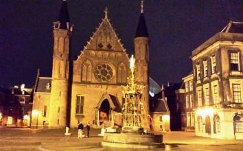 The Hague-Binnenhof courtyard at night