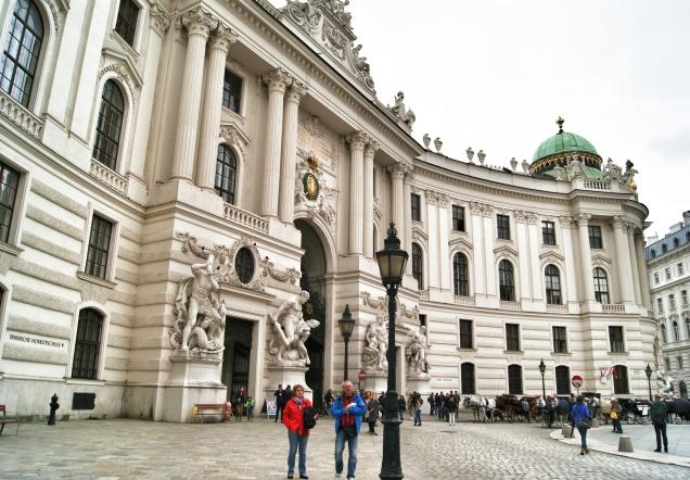 Hofburg square Vienna