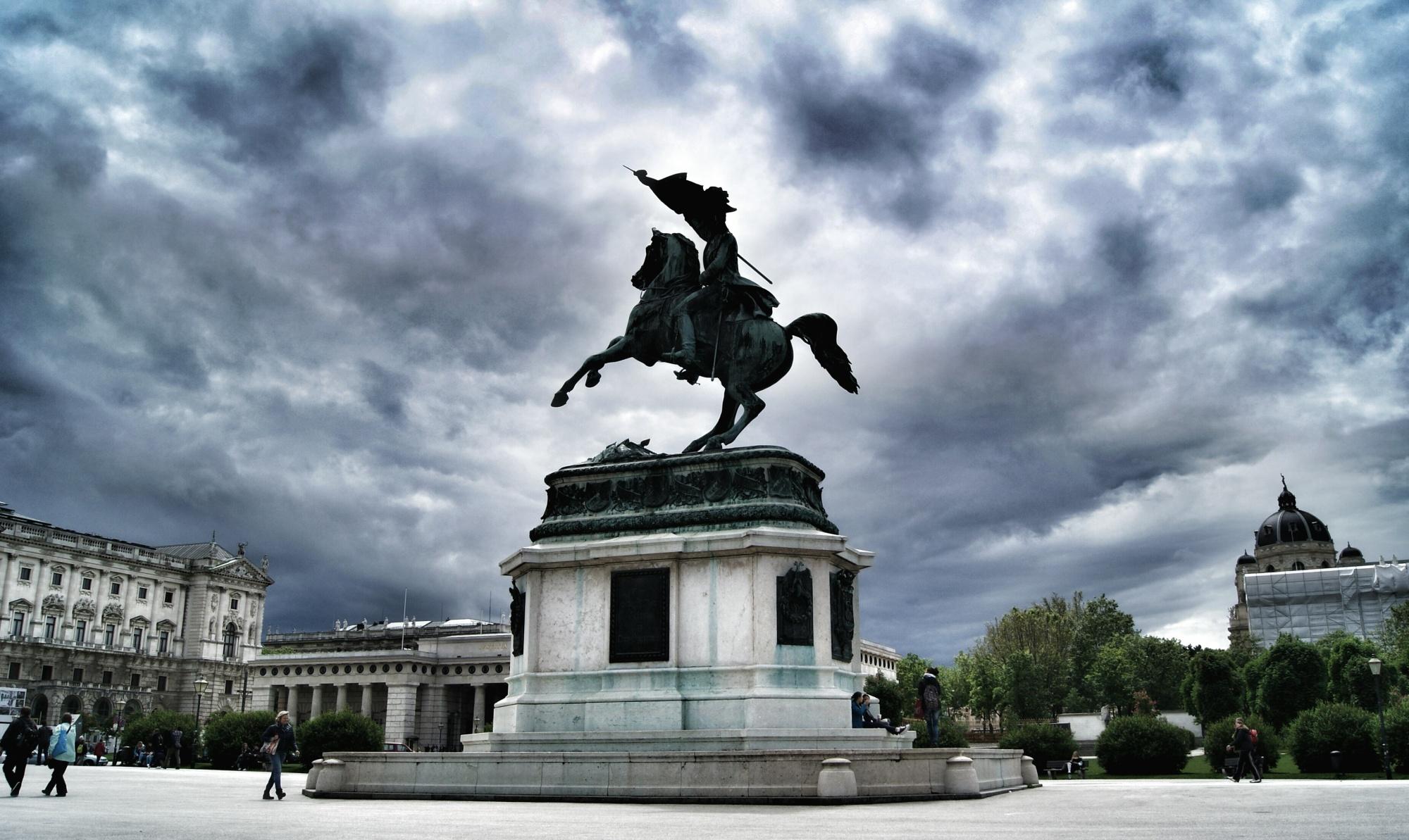 Hofburg statue Vienna