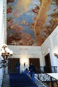 Inside entrance Schonbrunn palace Vienna