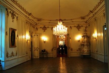 Inside Schonbrunn palace first room Vienna