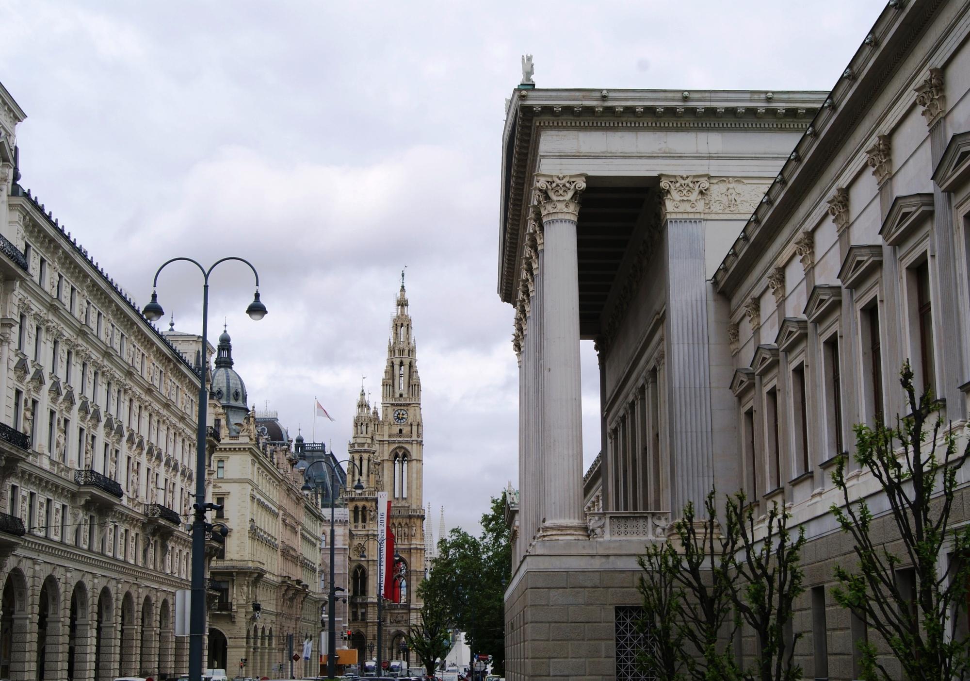 Rathaus and Parlament Vienna