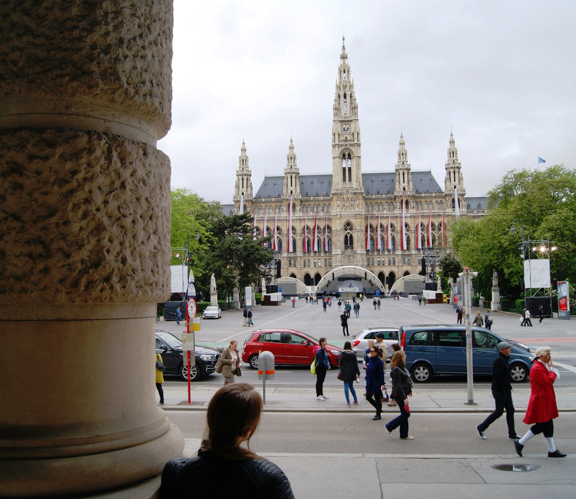 View of Rathaus from Burgtheater