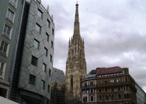 Stephansdom Vienna city contrasts