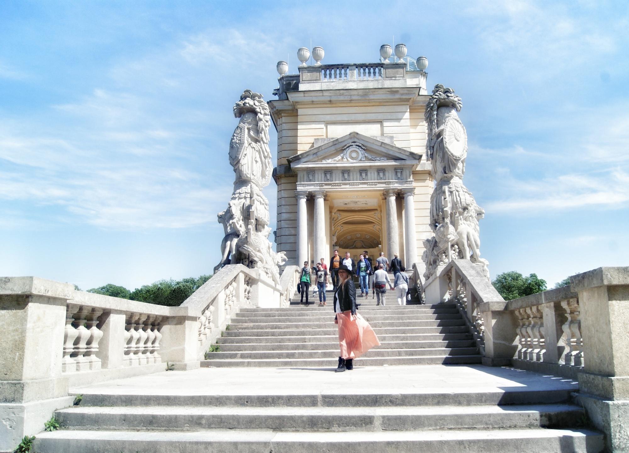 The Gloriette stairs Schonbrunn Vienna